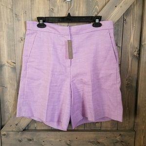 NWT J.Crew Linen Bermuda Shorts size 8
